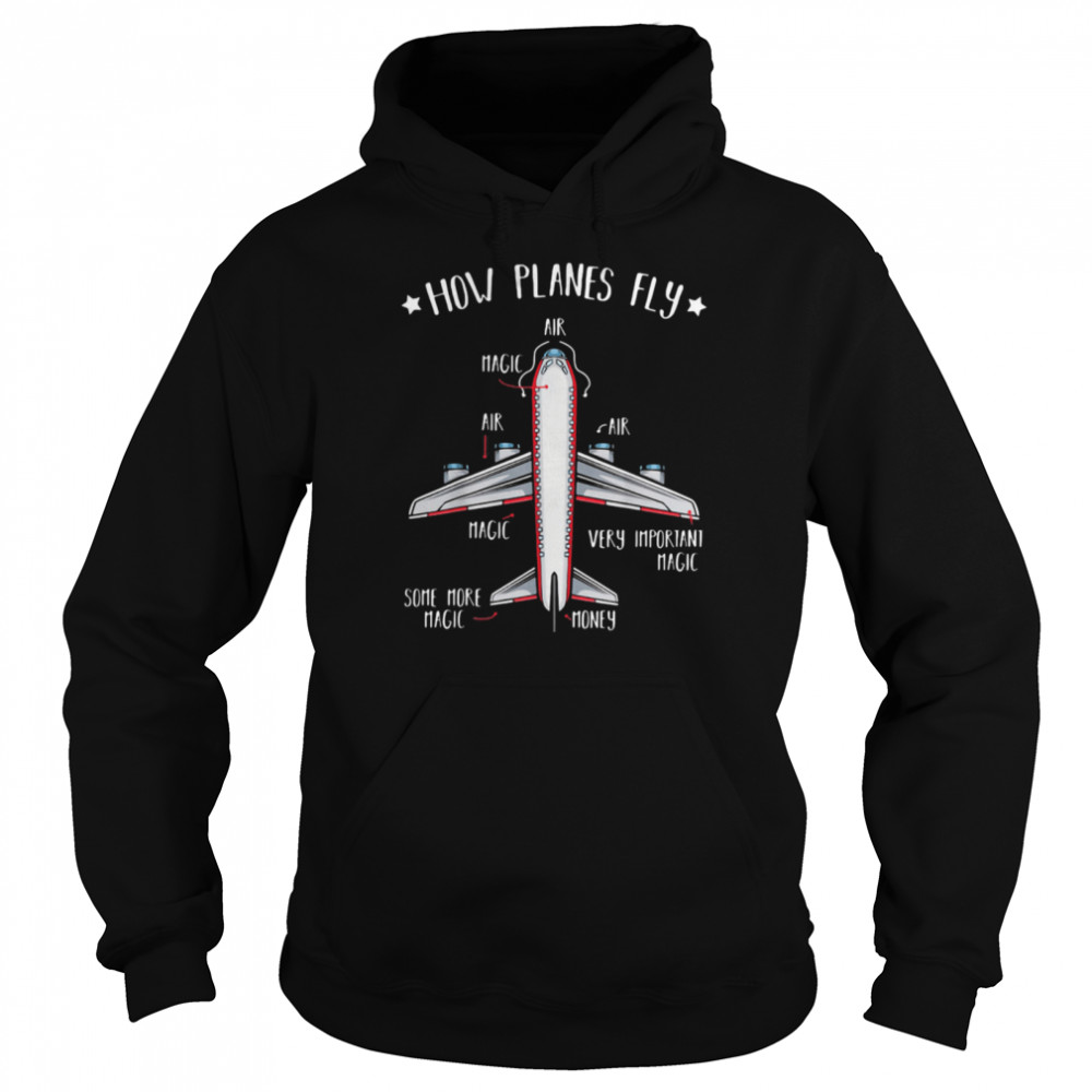 How Planes Fly Airport  Unisex Hoodie