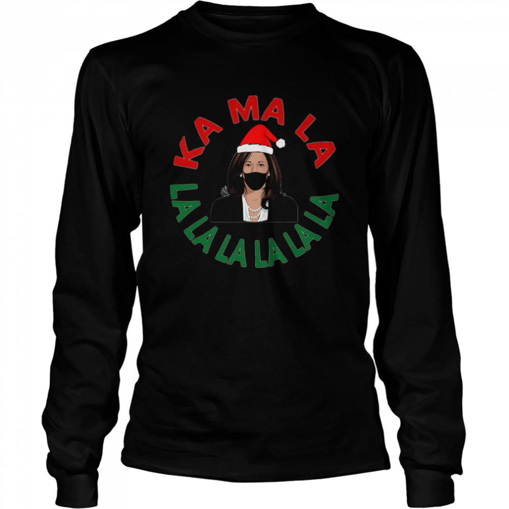 Kamala Momala Kamala Harris Mask Christmas  Long Sleeved T-shirt