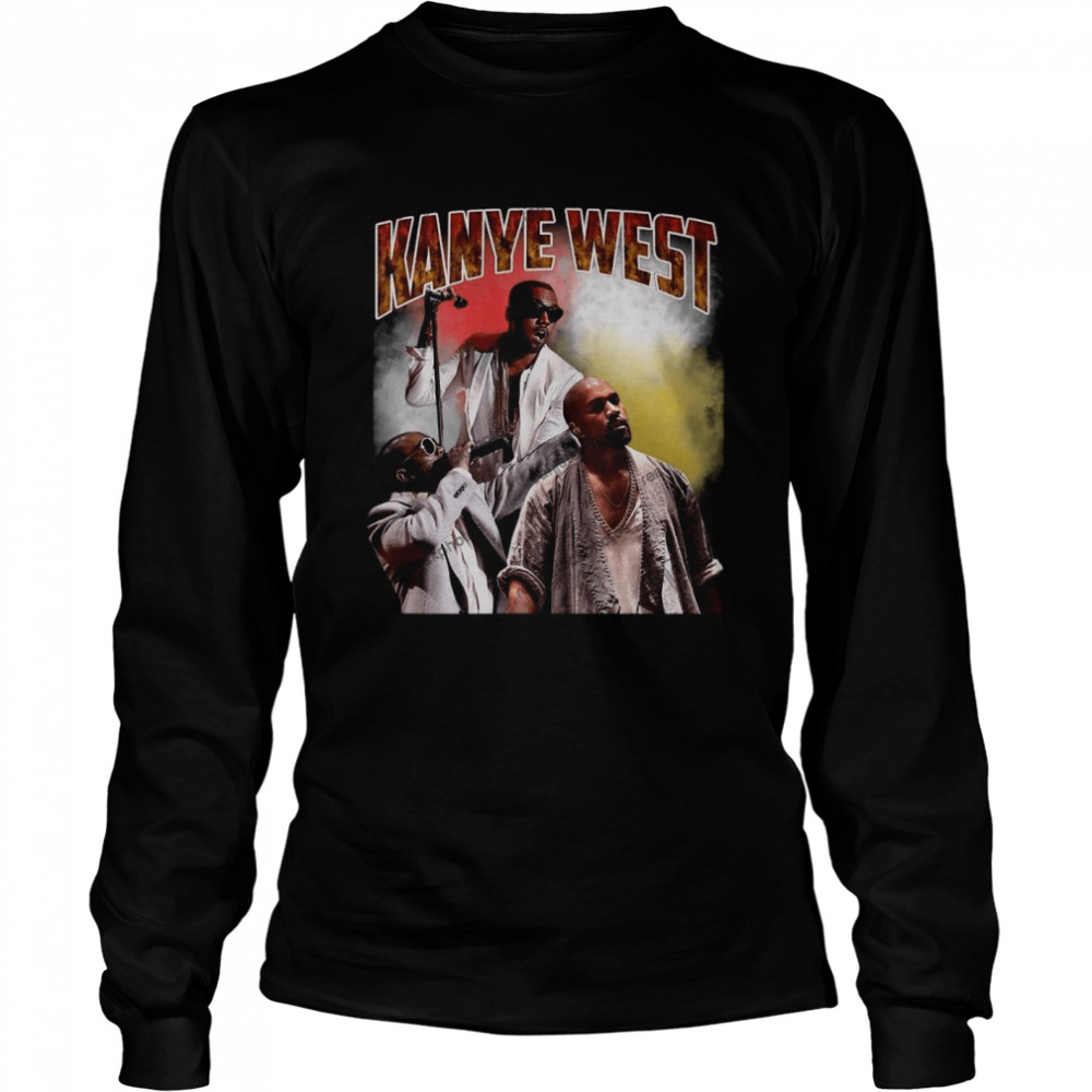 Kanye West Hip Hop Rap Vintage 90s  Long Sleeved T-shirt