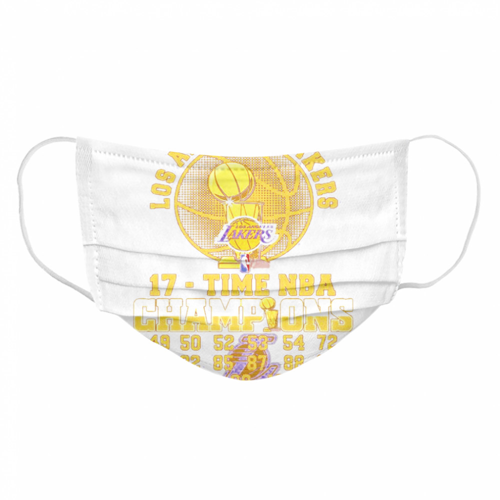 Los Angeles Lakers 17 Time Nba 2020 Champions 49 50 52 53 54 72 80  Cloth Face Mask