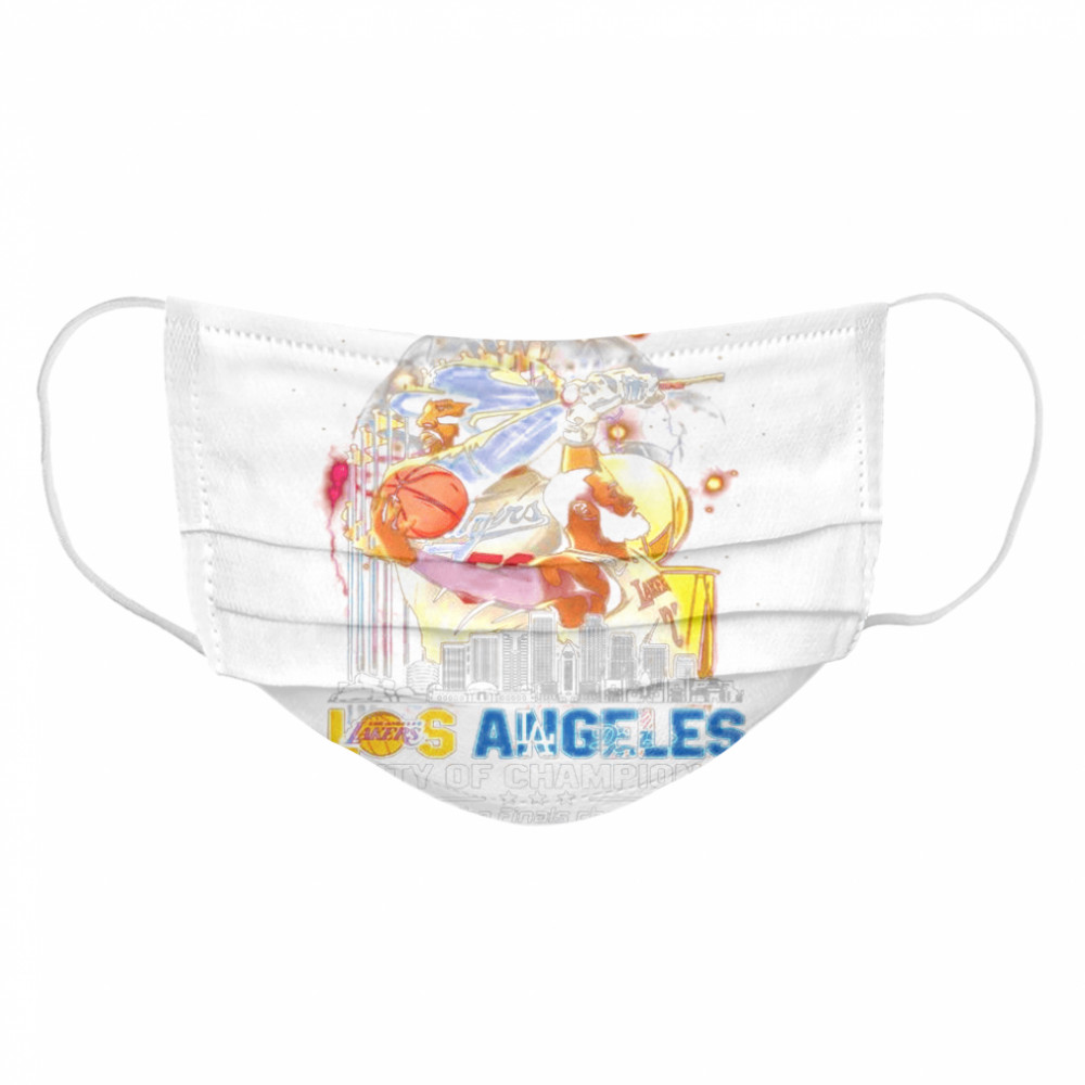 Los Angeles Lakers And Los Angeles Dodgers City Of Champions 2020 Nba Finals World Series  Cloth Face Mask