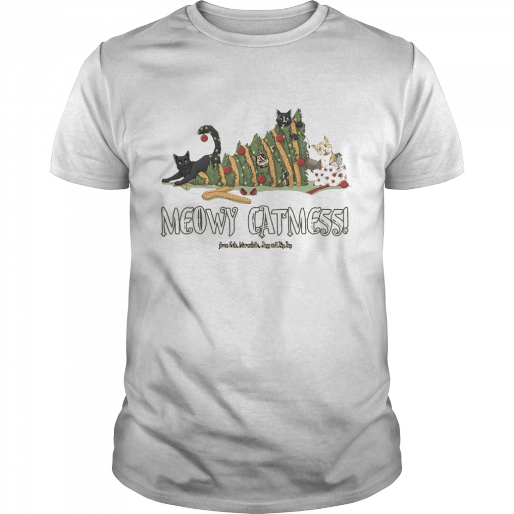 Meowy Catmas Cole and Marmalade Ugly Christmas  Classic Men's T-shirt