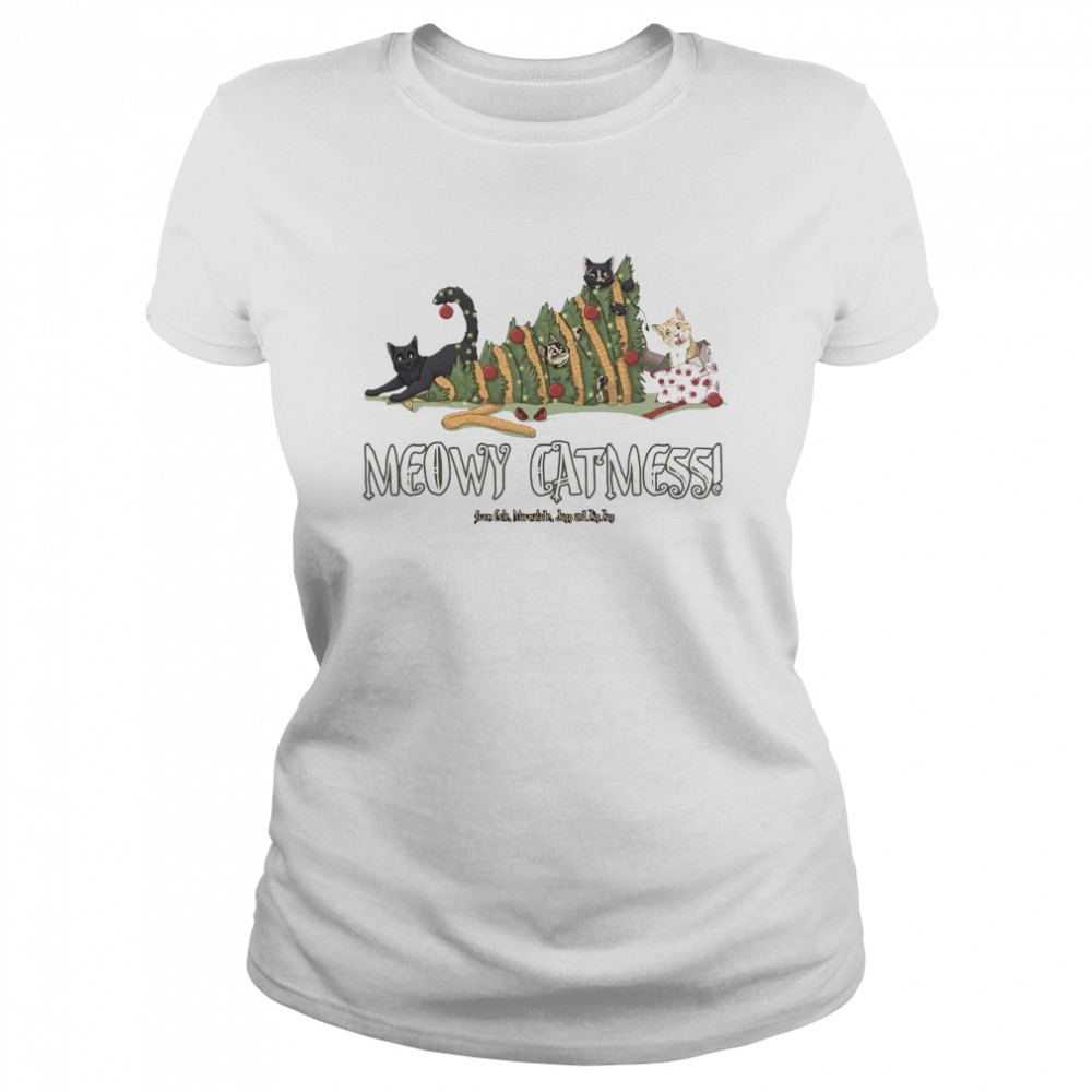 Meowy Catmas Cole and Marmalade Ugly Christmas  Classic Women's T-shirt