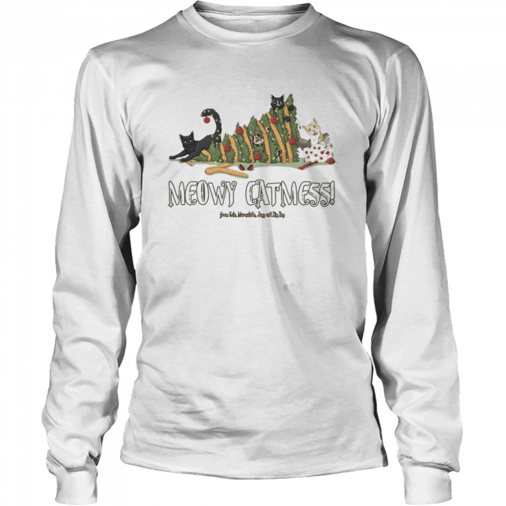 Meowy Catmas Cole and Marmalade Ugly Christmas  Long Sleeved T-shirt