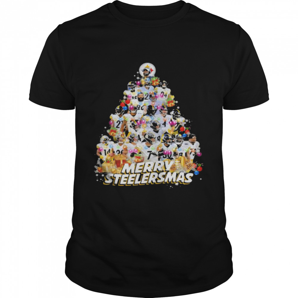 Merry Steelersmas Xmastree Pittsburgh Steelers Football  Classic Men's T-shirt