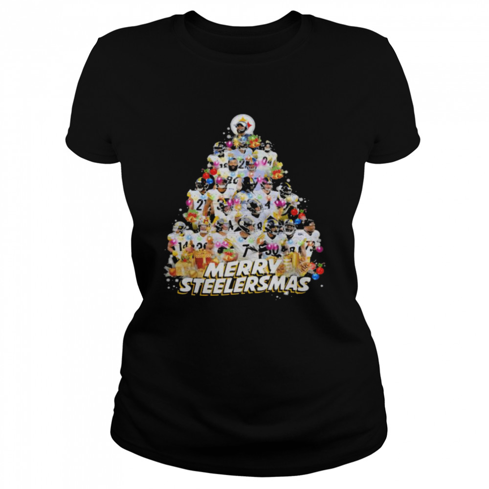 Merry Steelersmas Xmastree Pittsburgh Steelers Football  Classic Women's T-shirt