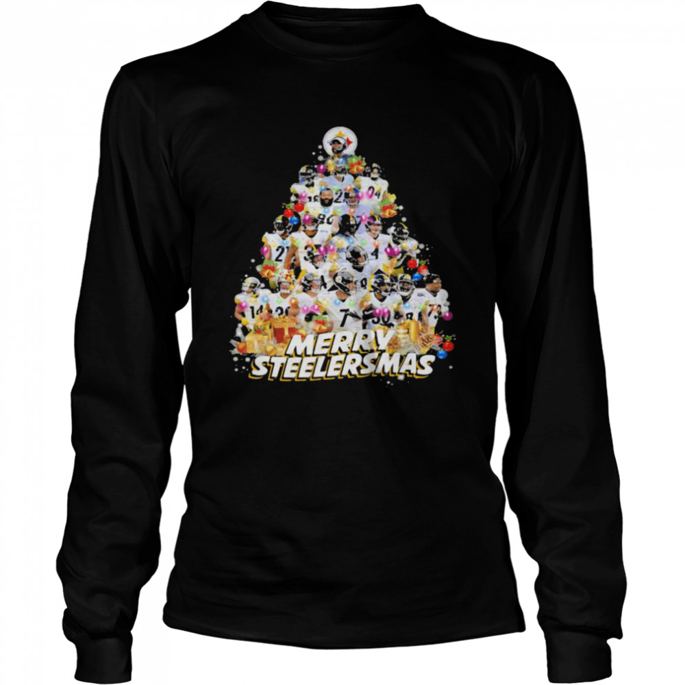 Merry Steelersmas Xmastree Pittsburgh Steelers Football  Long Sleeved T-shirt