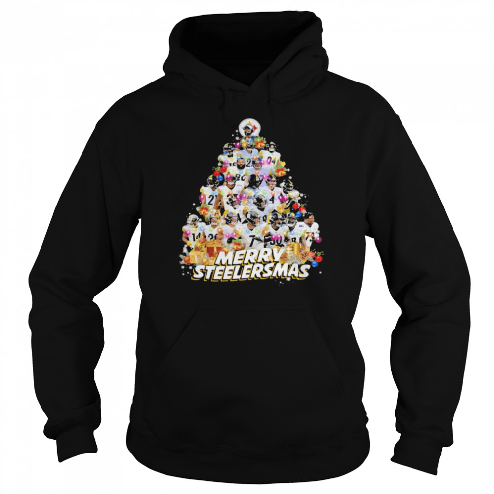 Merry Steelersmas Xmastree Pittsburgh Steelers Football  Unisex Hoodie