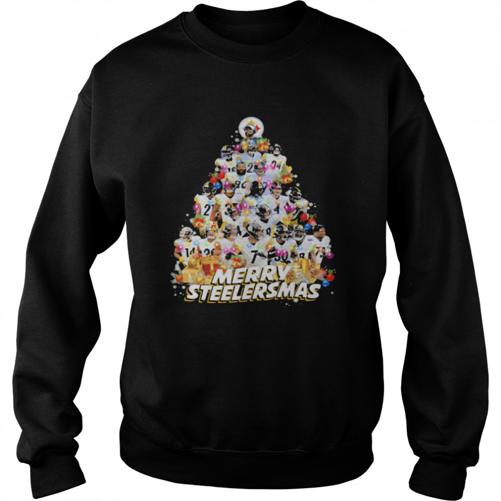 Merry Steelersmas Xmastree Pittsburgh Steelers Football  Unisex Sweatshirt