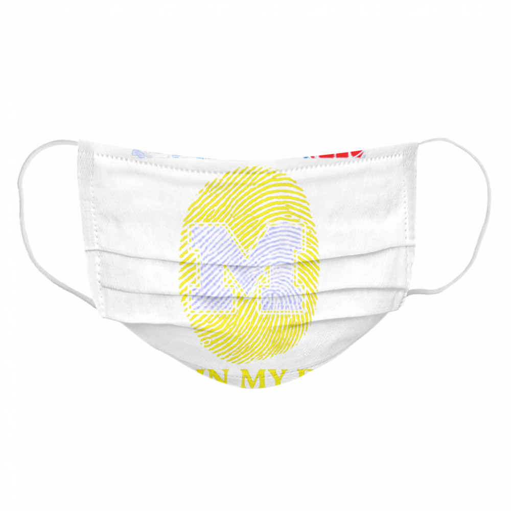 Michigan Detroit tigers Detroit Lions Detroit Red Wings Detroit Pistons it_s in my DNA  Cloth Face Mask