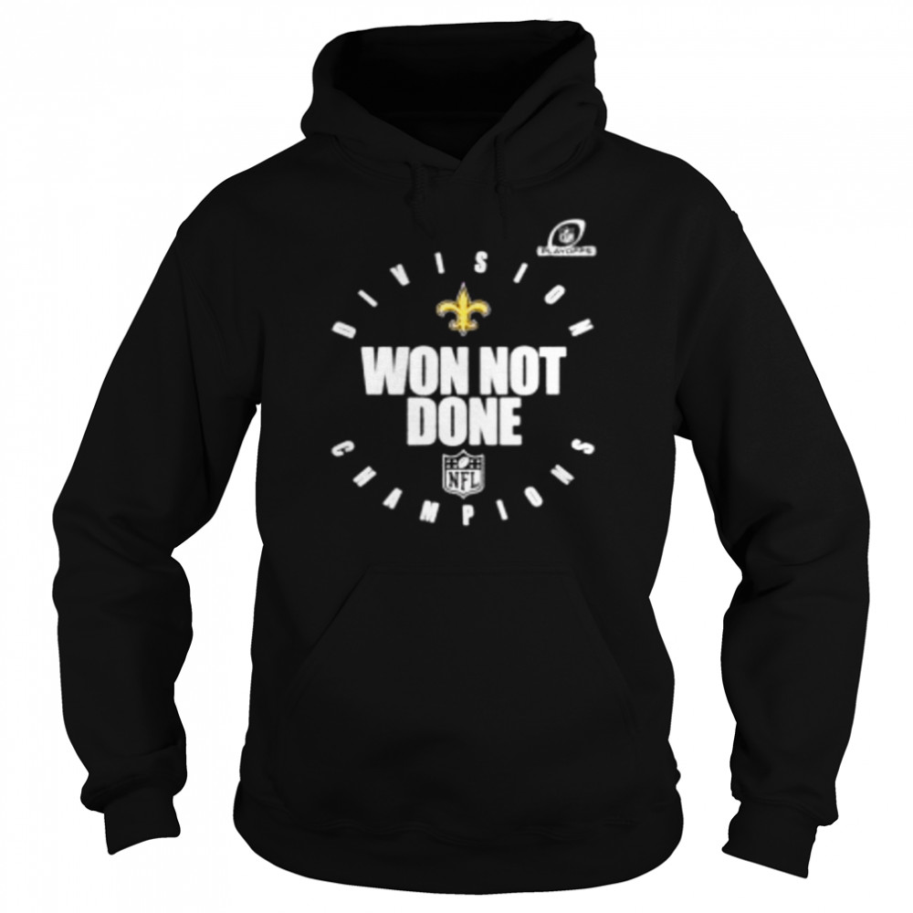 New orleans saints NFC south champions 2020 won not done  Unisex Hoodie