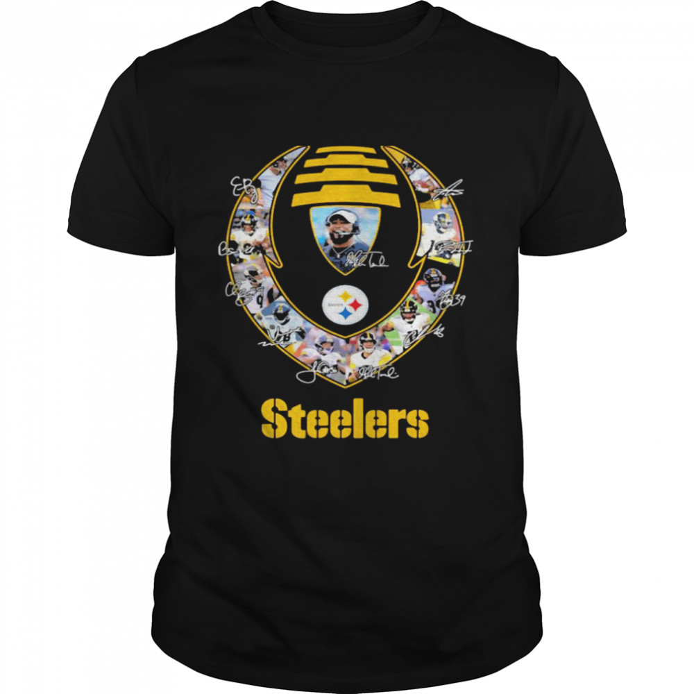 Rugby Ball Pittsburgh Steelers Signature Team Football  Classic Men's T-shirt