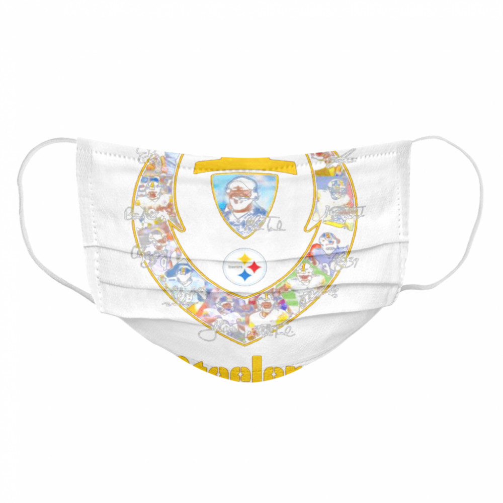 Rugby Ball Pittsburgh Steelers Signature Team Football  Cloth Face Mask