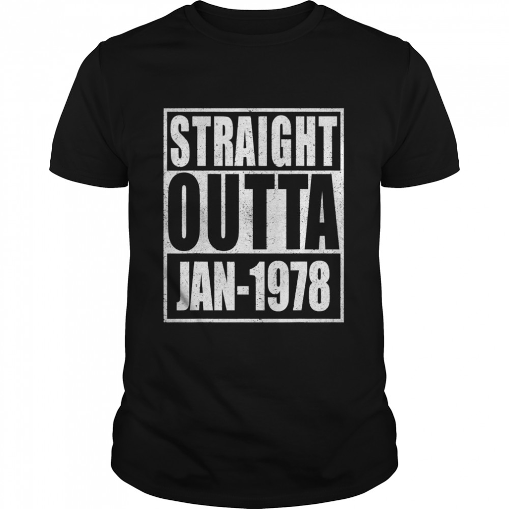 Straight Outta 1978 43th Years Old Birthday  Classic Men's T-shirt