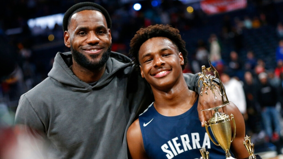Will LeBron James and his son Bronny get to play together in the NBA