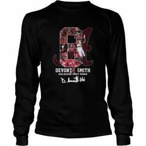 6 Devonta Smith 2020 Heisman Trophy WInner Signature  Long Sleeved T-shirt