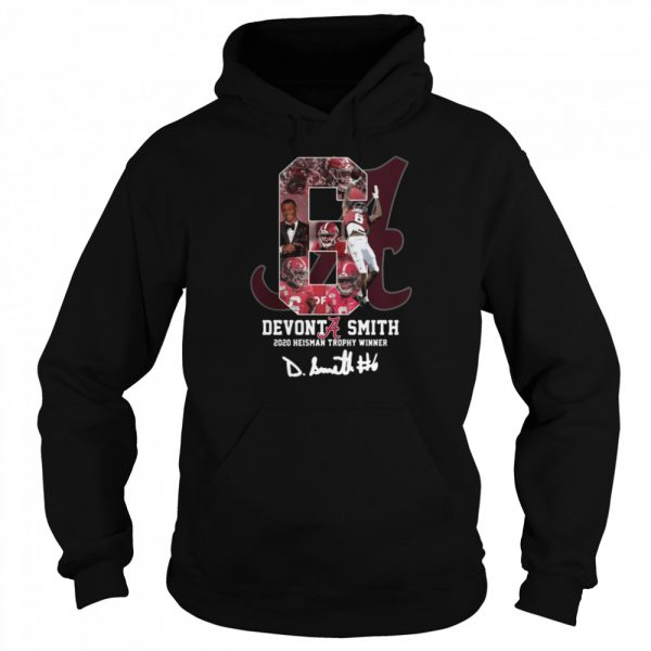6 Devonta Smith 2020 Heisman Trophy WInner Signature  Unisex Hoodie