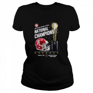 Alabama Crimson Tide 2021 college football playoff National Champions Alabama 52 Ohio State 24  Classic Women's T-shirt