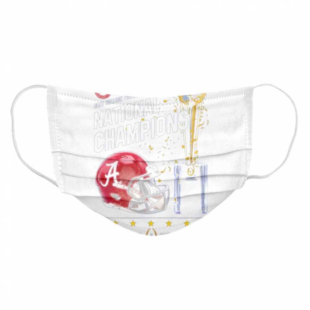 Alabama Crimson Tide 2021 college football playoff National Champions Alabama 52 Ohio State 24  Cloth Face Mask