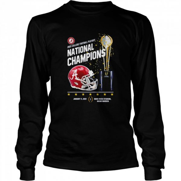 Alabama Crimson Tide 2021 college football playoff National Champions Alabama 52 Ohio State 24  Long Sleeved T-shirt