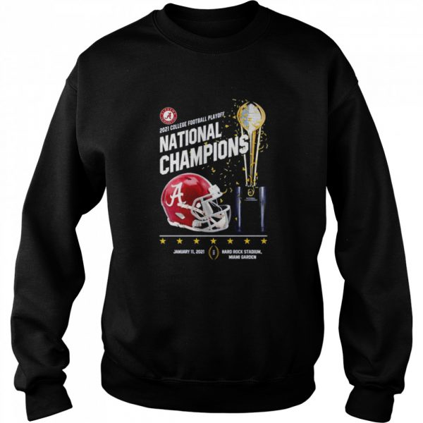 Alabama Crimson Tide 2021 college football playoff National Champions Alabama 52 Ohio State 24  Unisex Sweatshirt