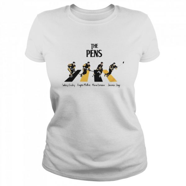 The Pittsburgh Penguins Sidney Crosby Evgeni Malkin Abbey Road  Classic Women's T-shirt