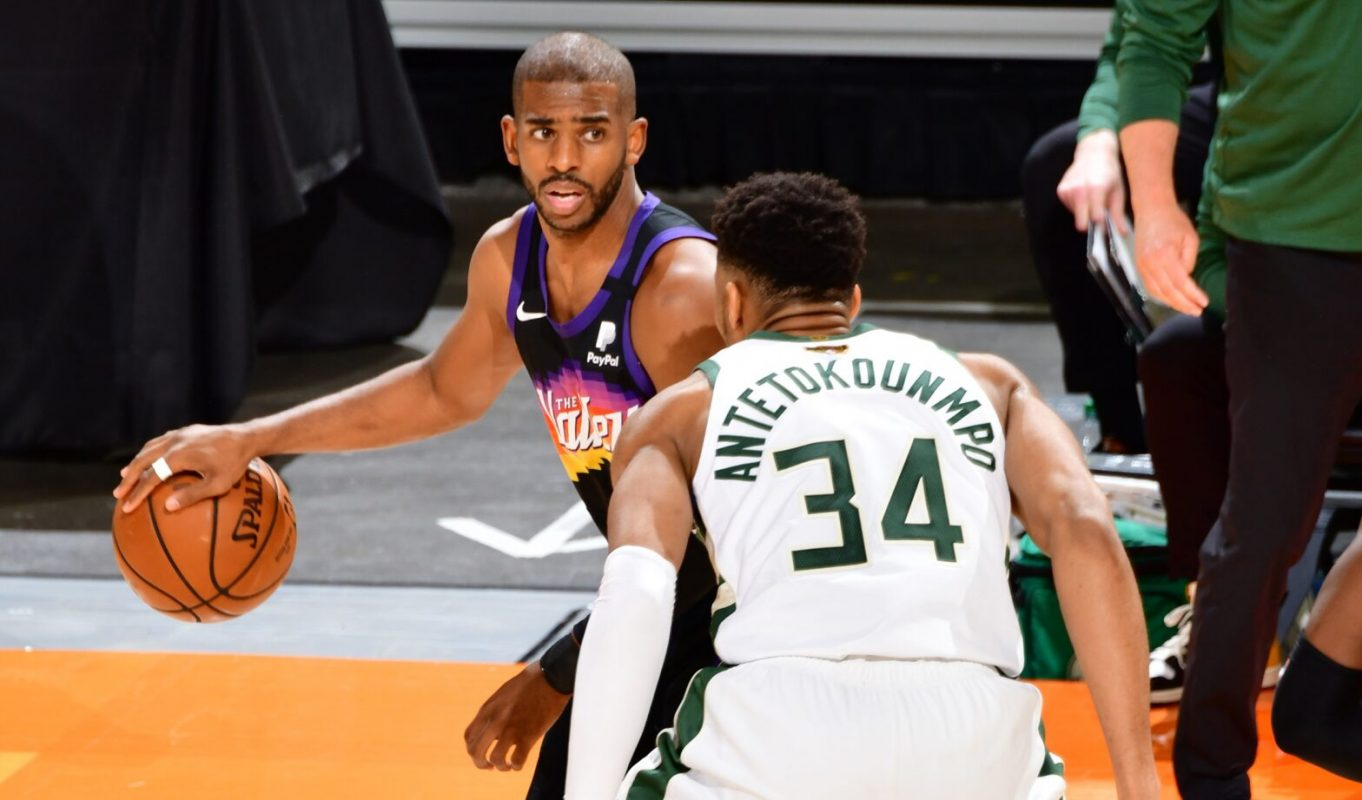 Giannis Antetokounmpo Chris Paul at the top of their games