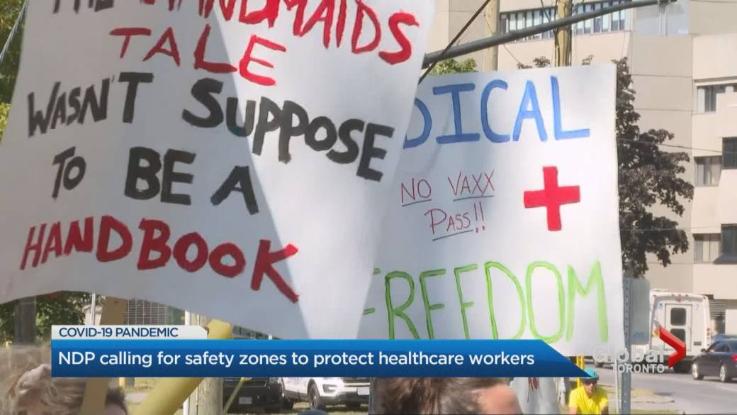 COVID-19 hospital protests 'a morale blow' to Canada's exhausted health-care workers