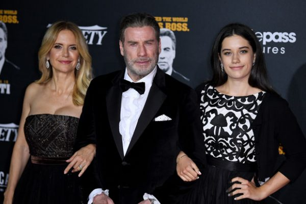 John Travolta with wife Kelly Preston and daughter Ella at the 2018 Cannes Film Festival