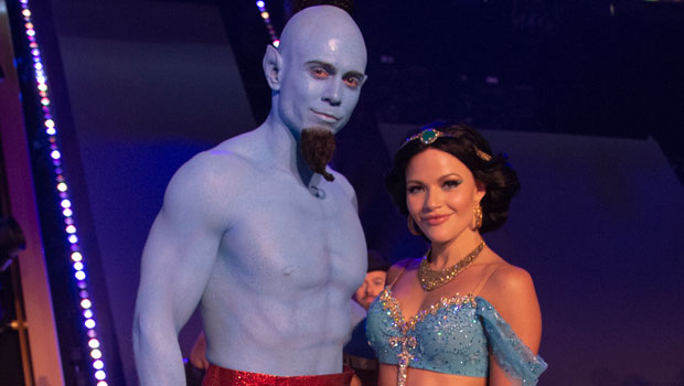 The Miz Looks Totally Unrecognizable InBlue Body Paint As The Genie On 'DWTS'